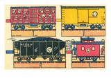 Cut-out Model of Train Print
