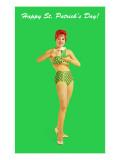 Happy St. Patrick's Day, Bikini Girl - Reprodüksiyon