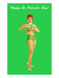 Happy St. Patrick's Day, Bikini Girl Posters