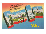 Greetings from Fort Lee, Virginia Posters