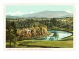 Winooski-Tal und Mt. Mansfield, Burlington, Vermont Kunstdrucke