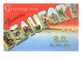 Greetings from Beaufort, South Carolina Poster