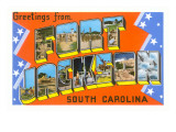 Greetings from Fort Jackson, South Carolina Posters