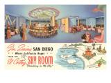 Sky Room, El Cortez Hotel, San Diego, California Poster