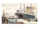 White Star Line, Cedric Leaving Liverpool Print