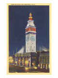 Ferry Building, San Francisco, California Poster