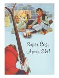 Super Cozy Apres Ski Scene Print