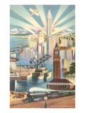 Modernist Poster of Seattle, Washington Posters