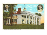 Mt. Vernon, George and Martha, Virginia Prints