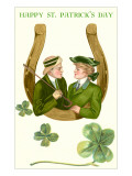 Happy St. Patrick's Day, Couple in Horseshoe Prints