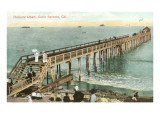 Pleasure Wharf, Santa Barbara, California Prints
