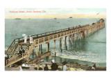 Pleasure Wharf, Santa Barbara, California Posters
