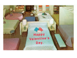 Happy Valentines Day, Mattress Store Posters