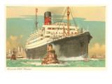 Cunard Ocean Liner RMS Samaria Poster