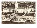 Civic Center, Ships, San Diego, California Poster