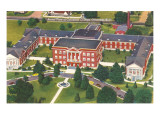 Aerial View of Columbia College, Columbia, South Carolina Posters