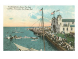 Yachting by Dance Pavilion, Coronado Tent City, California Prints