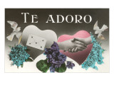 Te Adoro, Hearts and Violets Posters