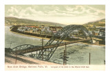 Arch Bridge, Bellows Falls, Vermont Prints