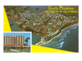 Aerial View of University of California at Santa Barbara Posters