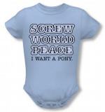 Infant: Screw World Peace Infant Onesie