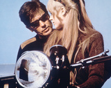The Girl on a Motorcycle Photographie