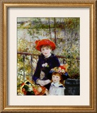 Two Sisters, or on the Terrace, 1881 Framed Giclee Print by Pierre-Auguste Renoir