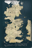 Game of Thrones carte des sept royaumes, le Trône de Fer Affiches