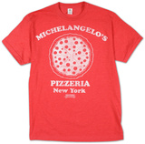 Teenage Mutant Ninja Turtles -  Michelangelo's Pizzeria (Slim Fit) T-shirts