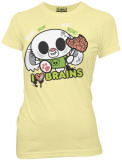 Juniors: I Heart Brains Bunny T-shirts