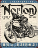 Norton - Winner Cartel de chapa