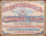 Hershey's - Chocolate & Cocoa Plaque en métal