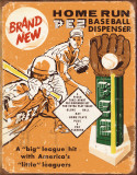 PEZ - Baseball Tin Sign