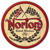 Norton - Logo Round Placa de lata