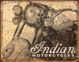Indian Antiqued Tin Sign