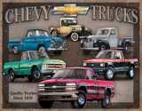 Chevy Truck Tribute Plaque en m&#233;tal