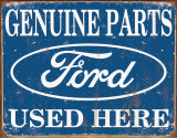 Ford Parts Used Here Cartel de metal