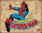 Spiderman Panels Placa de lata