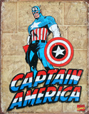 Captain America Panels Placa de lata