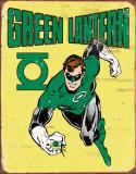 Green Lantern Retro Plaque en métal