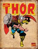 Thor Retro Plaque en métal