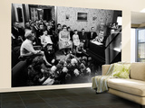 Jimmy Childs, 9, Giving Piano Recital to Large Group of Neighbors and Parents Wall Mural – Large by Yale Joel