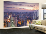 Brazil, Sao Paulo, Sao Paulo, View of City Center from Italia Building - Edificio Italia Wall Mural – Large by Jane Sweeney
