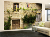 Stone Building Facade Detail. Wall Mural – Large by Barbara Van Zanten