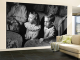 Children Watching Cartoons in a Movie Theater Wall Mural – Large by Charles E. Steinheimer
