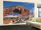 Route 24 in Winter, Capitol Reef National Park, Torrey, Utah, USA Wall Mural – Large by Walter Bibikow