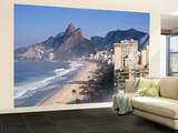Brazil, Rio De Janeiro, Ipenema Beach Looking Towards Leblon Wall Mural – Large by Jane Sweeney