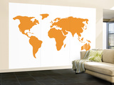 Orange World Wall Mural – Large by  Avalisa