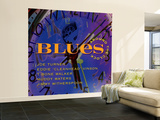 Blues Around the Clock Wall Mural – Large