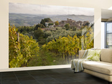 Vineyards in Hamlet of Castello Di Volpaia, Near Radda in Chianti Wall Mural – Large by Glenn Van Der Knijff